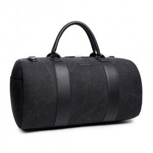 bolsa bowling negra algodon canvas